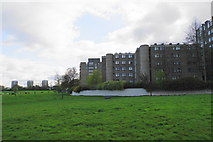 NZ2365 : Flats at Castle Leazes by Bill Boaden