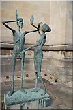 SP5206 : Statue of Christ and Mary Magdalen, Chaplain's Quad, Magdalen College by Rich Tea