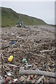 NX8148 : Rubbish on the beach, Airds Heugh by Richard Sutcliffe