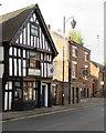 SJ6452 : Black Lion pub in Nantwich by Jaggery