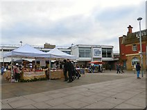 SJ9494 : Pop-up stalls on Hyde Market by Gerald England