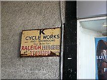 SD5192 : Old enamel sign - K Cycle Works by Rose and Trev Clough