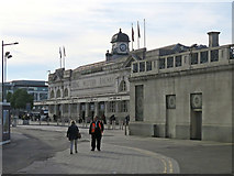ST1875 : The approach to Cardiff Central Station by John Sutton