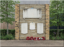 TQ3784 : Eton Manor Club War Memorial, Olympic Park, Stratford by Christine Matthews