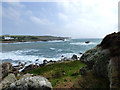 SV9109 : Entrance to Old Town Bay in strong easterly gale with heavy seas by Martin Southwood