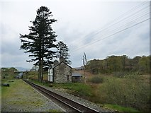 SH6742 : Dduallt Station, looking south by Christine Johnstone