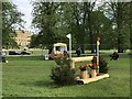 SK2570 : Cross-country fence at Chatsworth Horse Trials by Jonathan Hutchins