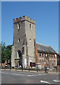 TL8507 : Tower, former Church of St Peter, Maldon by Julian Osley