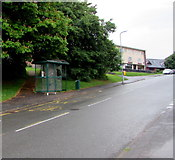 ST3091 : Damaged Russell Drive bus shelter, Newport by Jaggery