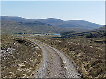 NH2374 : Track from Loch Droma to Loch a' Mhadaidh by Julian Paren