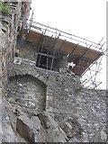 J1811 : Scaffolding at King John's Castle, Carlingford by Eric Jones