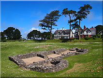 SH4862 : Remains of a Bath House, Segontium Roman Fort by Chris Andrews