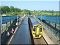 NT1188 : Passing trains, Dunfermline Queen Margaret Railway Station by JThomas