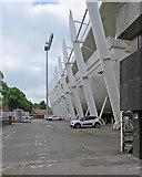SK5838 : Trent Bridge Cricket Ground: behind the Fox Road Stand by John Sutton