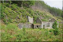 NG5536 : Old Mine Buildings by Anne Burgess