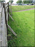 SJ4065 : Chester City Walls and the castle perimeter boundary stone #20 by John S Turner