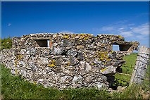 SH3368 : North Wales WWII defences: Ty Croes Camp, Anglesey - Loopholed Wall (2) by Mike Searle