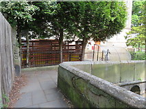 SJ4065 : A corner in the city walls and War Department boundary stone #24 by John S Turner