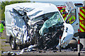 SS8321 : North Devon : The A361 - Accident by Lewis Clarke
