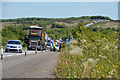 SS8321 : North Devon : The A361 by Lewis Clarke