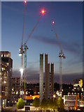 TQ1985 : Construction site on Olympic Way by Rod Allday