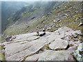 NN0730 : Rock slab on ridge of Ben Cruachan by Trevor Littlewood