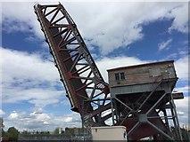 SJ3290 : Birkenhead Docks the A Bridge Bascule Bridge raised by Sue Freeman