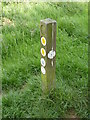 SO9777 : Monarch Way sign, Waseley Hills by Jeff Gogarty
