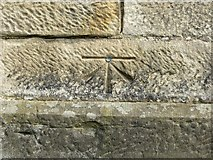 NZ0516 : Ordnance Survey Cut Mark with Bolt by Peter Wood