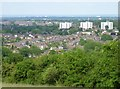 SO9877 : A view of Rubery from Waseley Hill by Jeff Gogarty