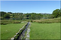 NY3404 : Beck runs into Loughrigg Tarn by DS Pugh