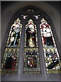 TQ2075 : St Mary Magdalen R.C. Church, Mortlake: stained glass window (c) by Basher Eyre