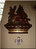 TQ2075 : St Mary Magdalen R.C. Church, Mortlake: Ninth Station of the Cross by Basher Eyre