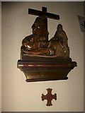 TQ2075 : St Mary Magdalen R.C. Church, Mortlake: Thirteenth Station of the Cross by Basher Eyre
