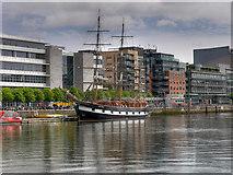 O1634 : River Liffey, Jeanie Johnston Tall Ship by David Dixon