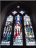 TQ2075 : St Mary Magdalen R.C. Church, Mortlake: stained glass window (g) by Basher Eyre