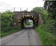 ST9898 : West side of Tarlton Road railway bridge near Kemble by Jaggery