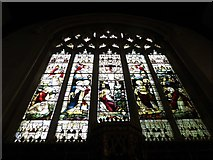 TQ2075 : St Mary the Virgin, Mortlake: stained glass window (e) by Basher Eyre