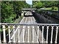 ST7565 : Railway lines in Sydney Gardens, Bath by Richard Humphrey