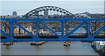 NZ2463 : Tyne bridges by Thomas Nugent