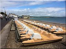 SY6879 : Pedalos on Weymouth Beach by David Dixon