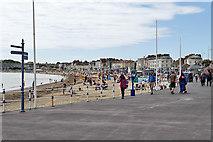 SY6879 : Weymouth Esplanade and Beach by David Dixon