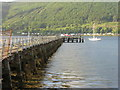 NS1680 : The end of Ardnadam Pier by M J Richardson