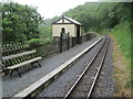 SN7277 : Rhiwfron railway station, Ceredigion by Nigel Thompson