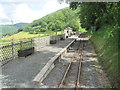 SN6778 : Nantyronen railway station, Ceredigion by Nigel Thompson
