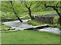 SD8963 : Clapper bridge over Malham Beck by Oliver Dixon
