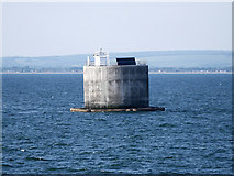 SZ7485 : East Solent, Nab Tower by David Dixon