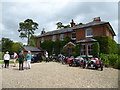 SU2483 : Prebendal Farm on fete day by Vieve Forward