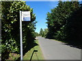 TL9739 : Calais Street opposite Wash Lane bus stop sign by Hamish Griffin
