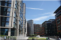 TQ2681 : View of blocks of flats in the Paddington Basin by Robert Lamb